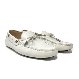 Tods Leather Bow Moccasin Driving Loafers Flats